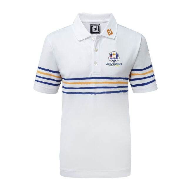 2018 Ryder Cup Junior Stretch Pique with Painted Stripes