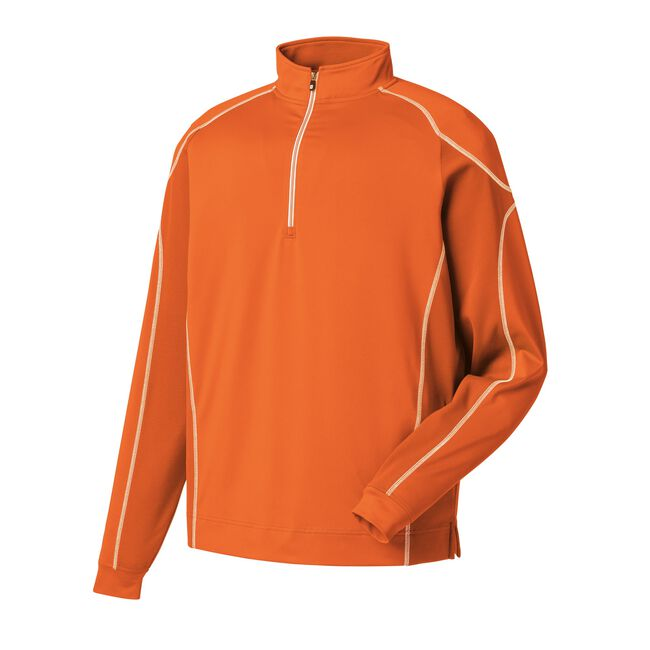 Mixed Texture Sport Half-Zip Pullover-Previous Season Style