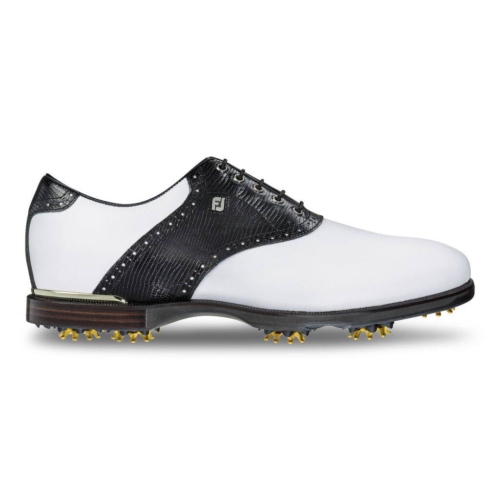 Footjoy White Blue Saddle Golf Shoes For Men
