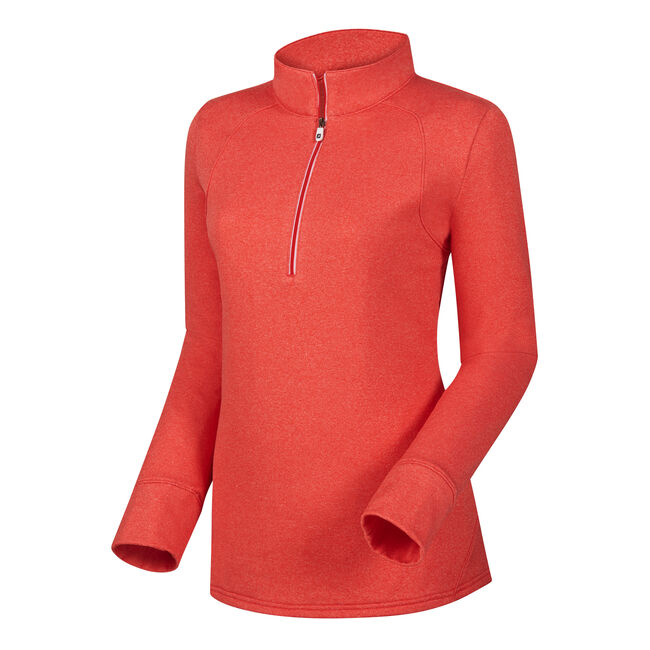 Half-Zip Textured Back Mid Layer Women-Previous Season Style