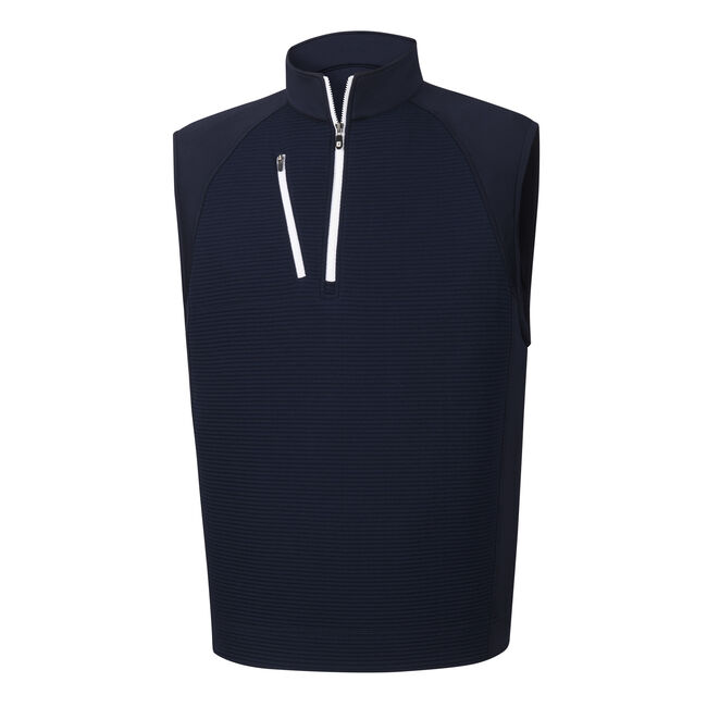 Ribbed Jacquard Half-Zip Vest-Previous Season Style