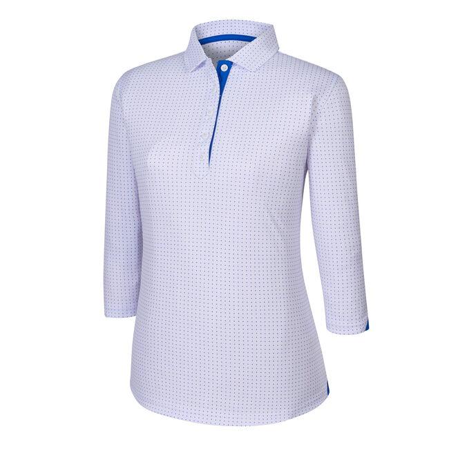 3/4 Sleeve Dot Pattern Shirt Women