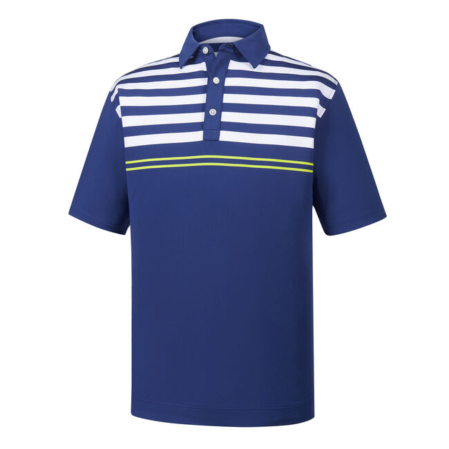 Lisle Engineered Chest Stripes Self Collar
