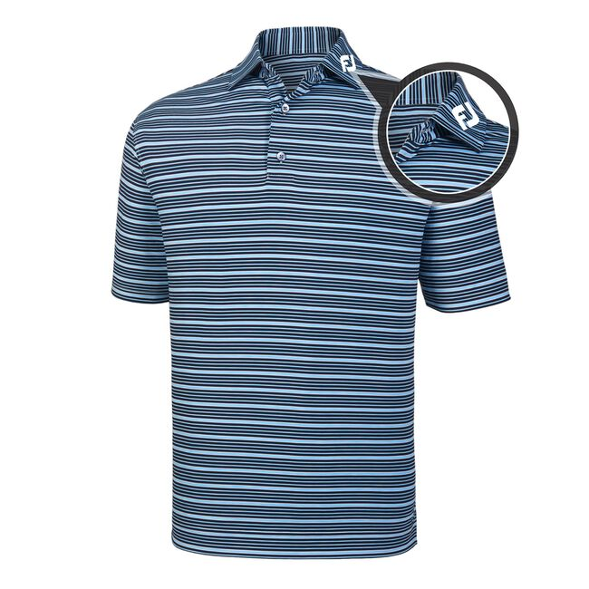 Lisle Space Dye Stripe Self Collar - FJ Tour Logo