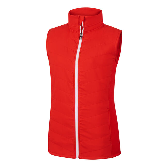 Full-Zip Quilted Hybrid Vest Women