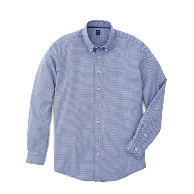 Stretch Cotton Micro-Stripe Shirt