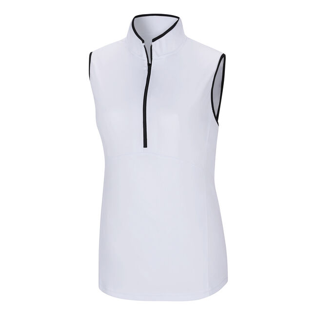 Sleeveless Half-Zip Shirt Women