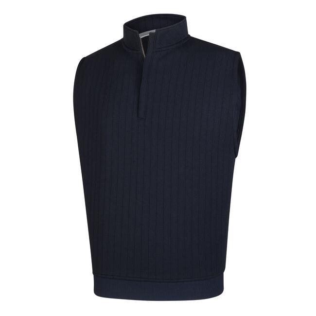 Drop Needle Half-Zip Vest