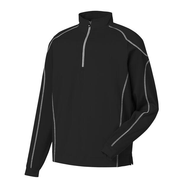 Mixed Texture Sport Half-Zip Pullover