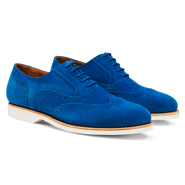 Wing Tip Suede