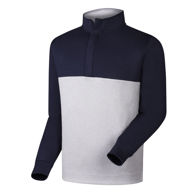 Jersey Knit Color Block Half-Zip