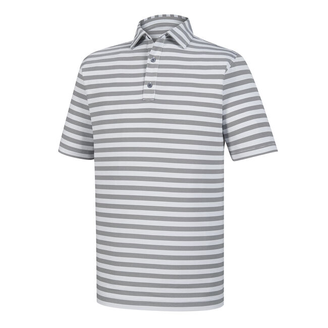 Athletic Fit End On End Multi Stripe Self Collar