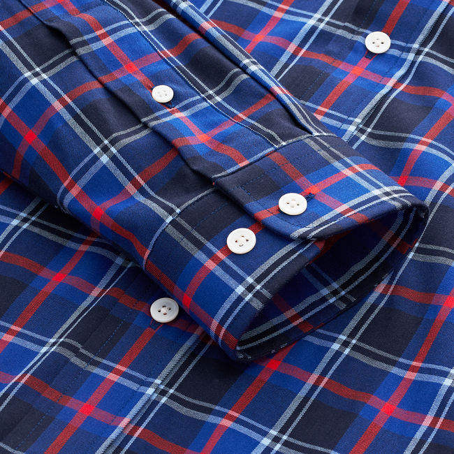 Stretch Cotton Plaid Woven