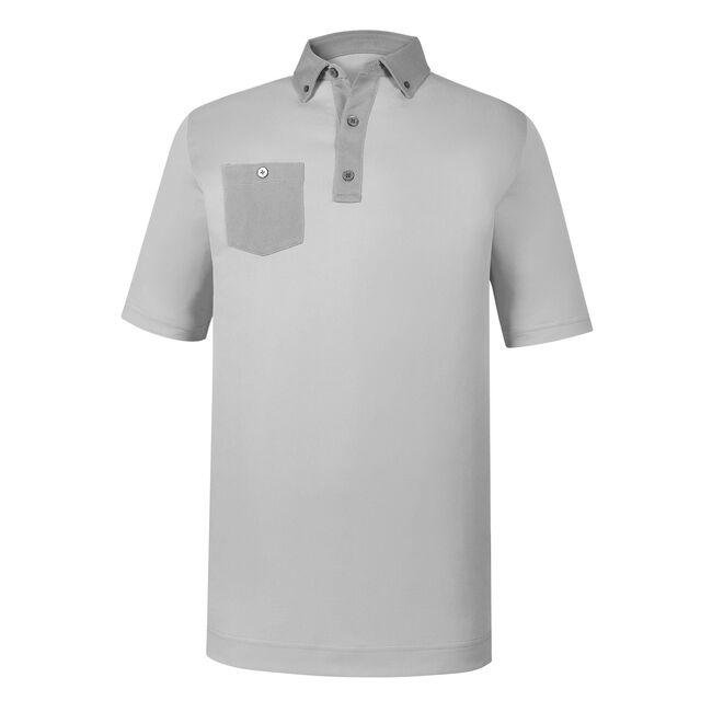 Athletic Fit Birdseye Jacquard Buttondown Collar
