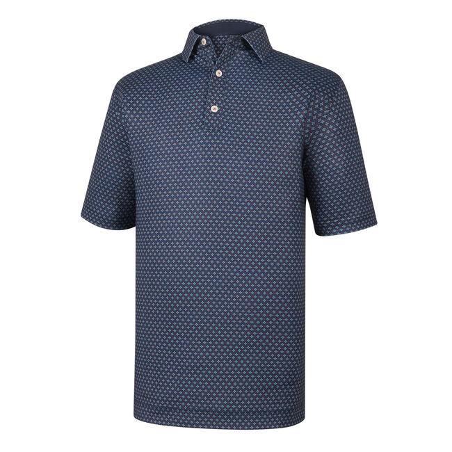 Athletic Fit Lisle Foulard Print Self Collar