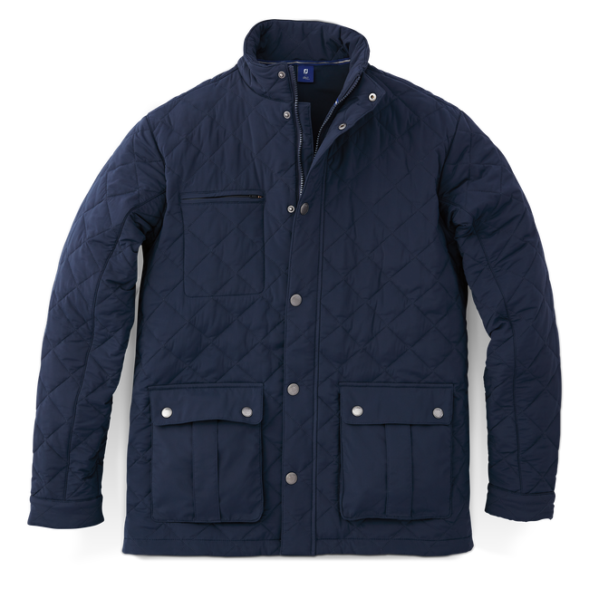 Quilted Stretch Woven Jacket