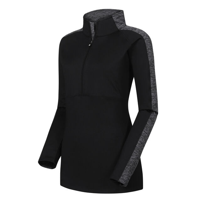 Half-Zip Quilted Accents Mid Layer Women-Previous Season Style