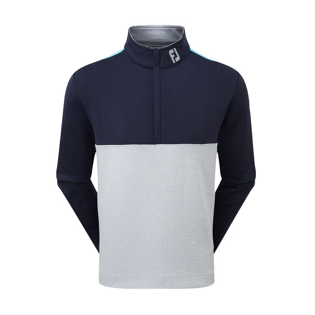 Jersey Colour Block Half-Zip