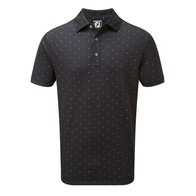Lisle Square Print Self Collar
