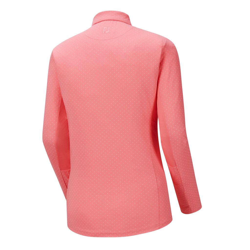 Dot print sun protection women footjoy for Sun protection golf shirts