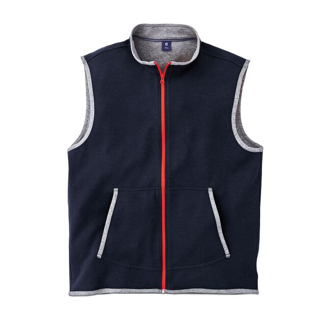 Double Layer Full-Zip Vest