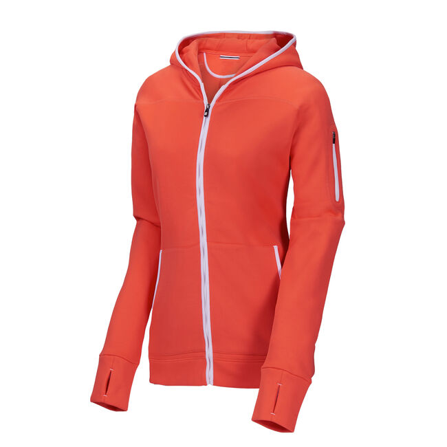 Full-Zip Fleece Hoodie Women-Previous Season Style