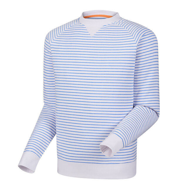 French Terry Crew Neck Stripe-Previous Season Style