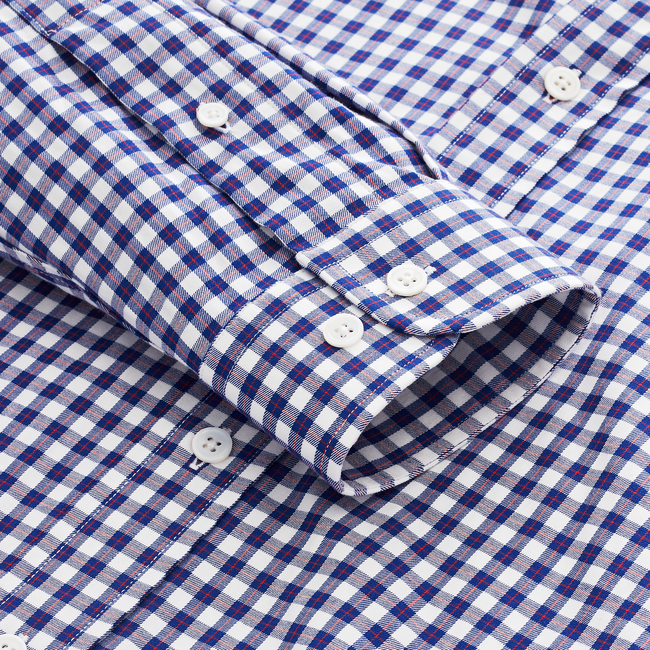 Stretch Cotton Gingham Woven Shirt