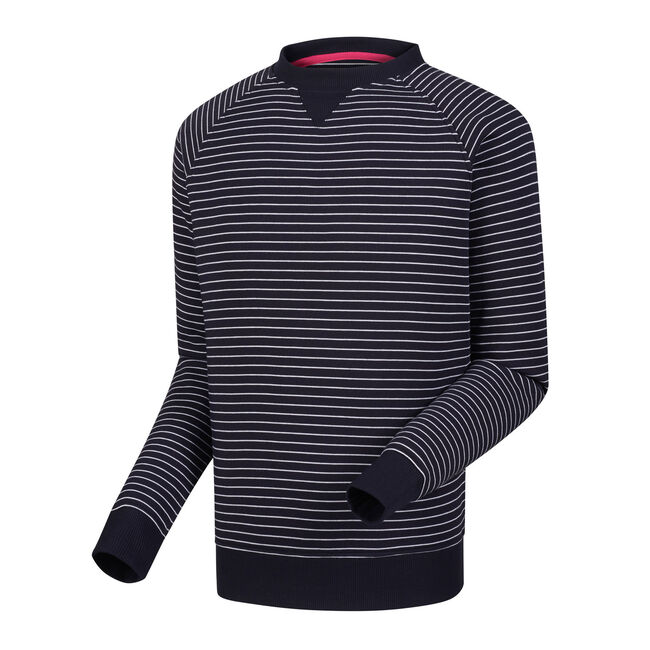 French Terry Crew Neck Stripe