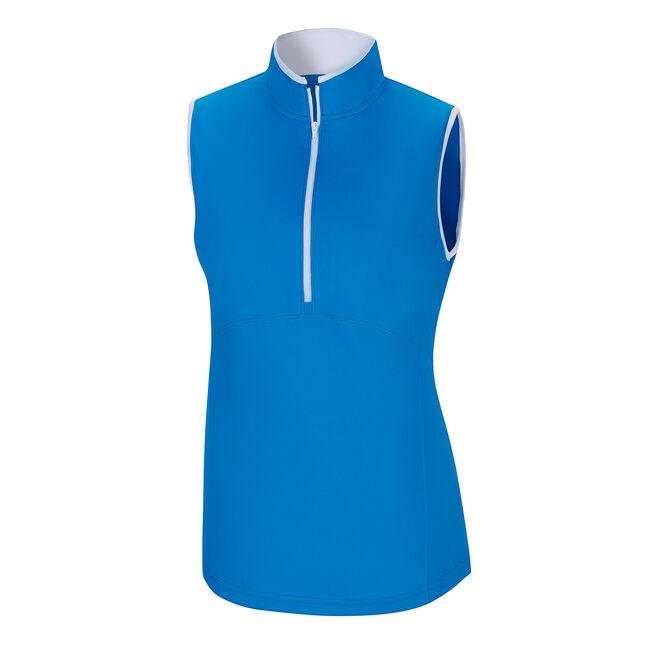 Sleeveless Half-Zip Shirt Women