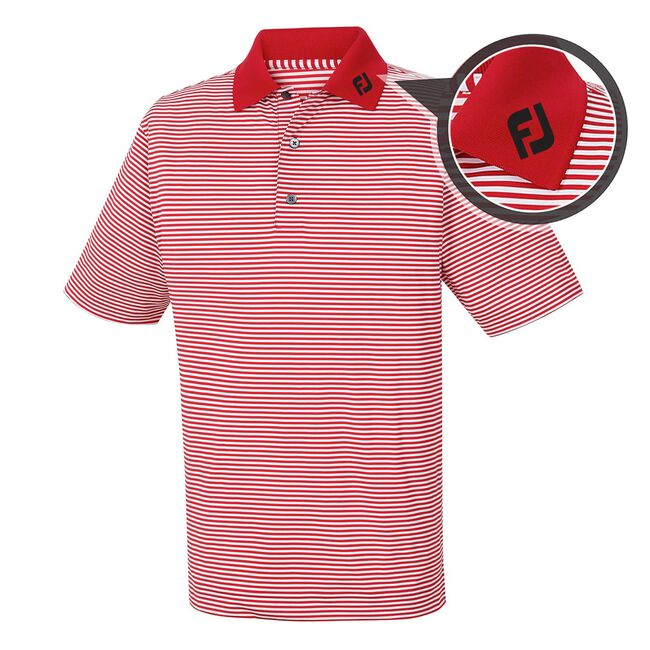 Lisle Feeder Stripe Knit Collar -  FJ Tour Logo