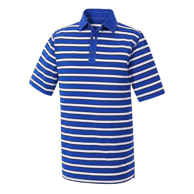 Athletic Fit Stretch Lisle Multi-Stripe Self Collar-Previous Season Style
