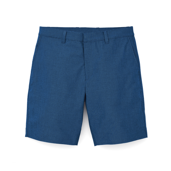 Stretch Cotton Chambray Shorts