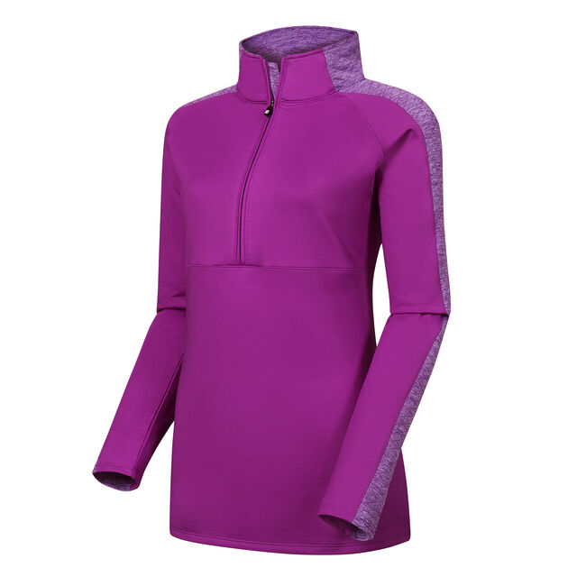 Half-Zip Quilted Accents Mid Layer Women