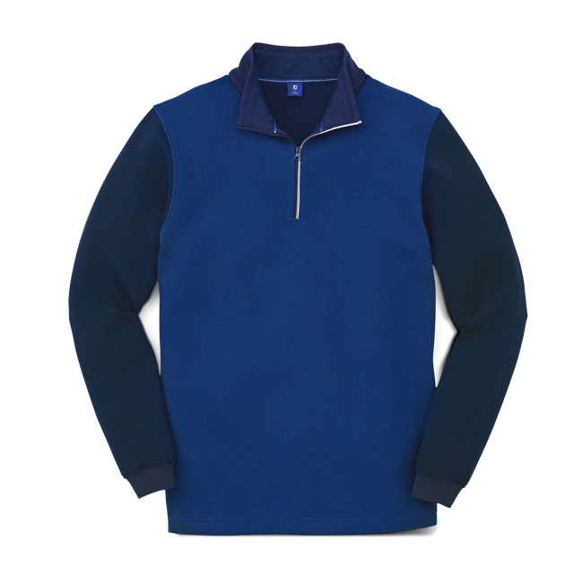 Cotton Blend Quarter Zip Midlayer