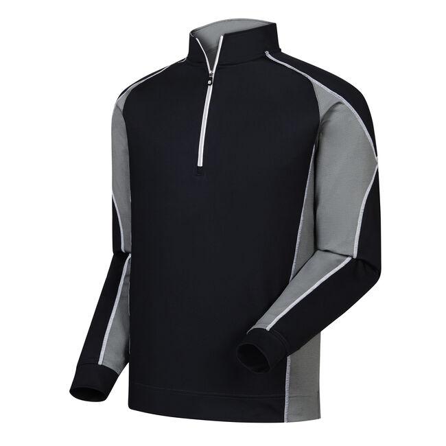 Mixed Texture Half-Zip Pullover