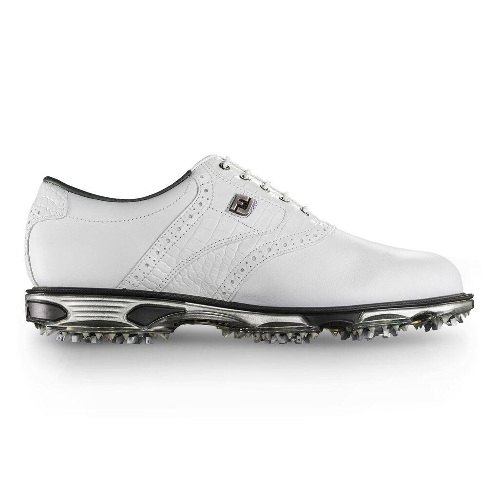 Footjoy Mens Dryjoys Tour White Croc Golf Shoes