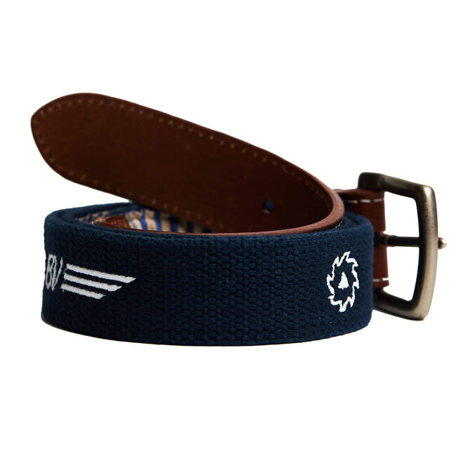 BV Wings Embroidered Belt - Navy