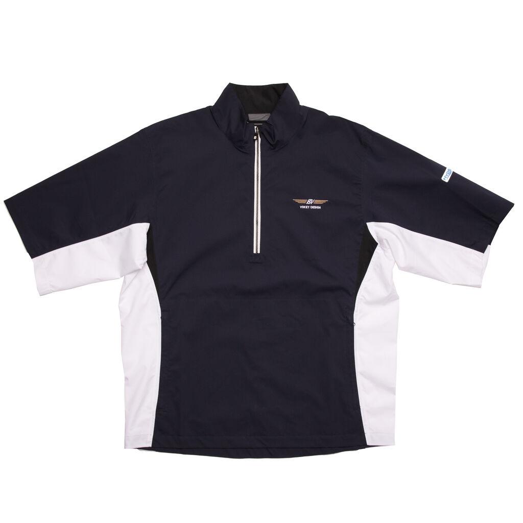 FJ HydroLite Short Sleeve Rain Shirt - Navy/White/Black - Vokey