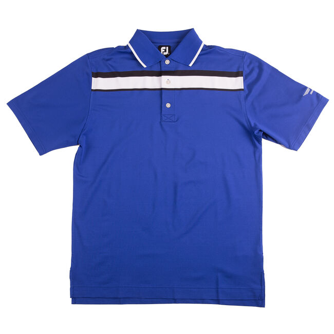 FJ ProDry Performance Lisle Chest Stripe - Royal Blue + Black/White