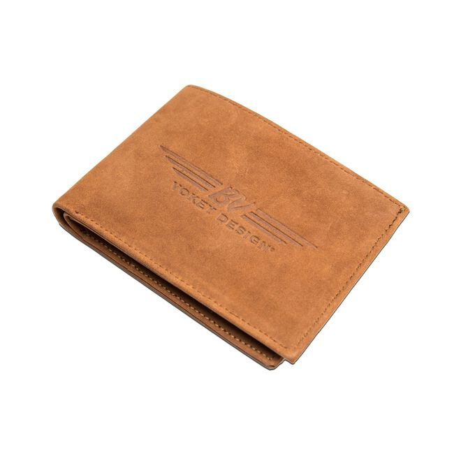 BV Wings Nubuck Leather Wallet - Tan