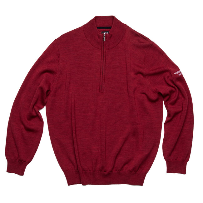 FJ Merino Half-Zip Sweater - Heather Cranberry
