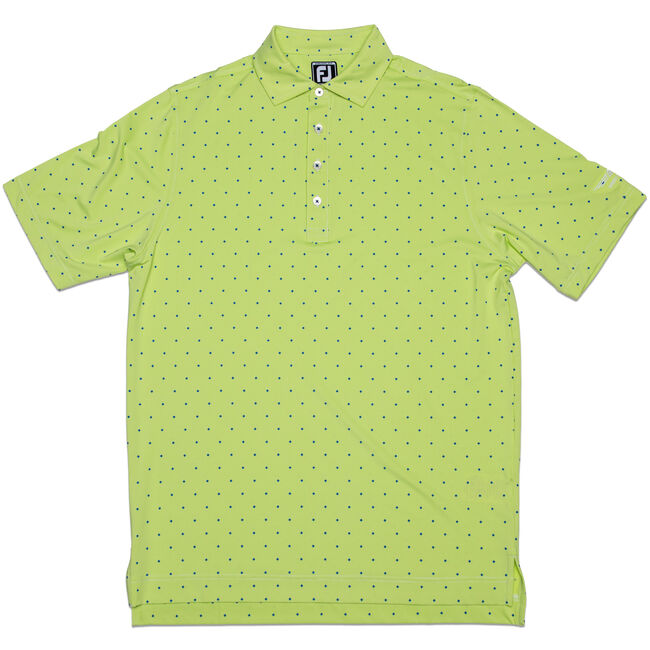FJ End on End Lisle w/ Print - Athletic Fit - Green Apple + Midnight Blue
