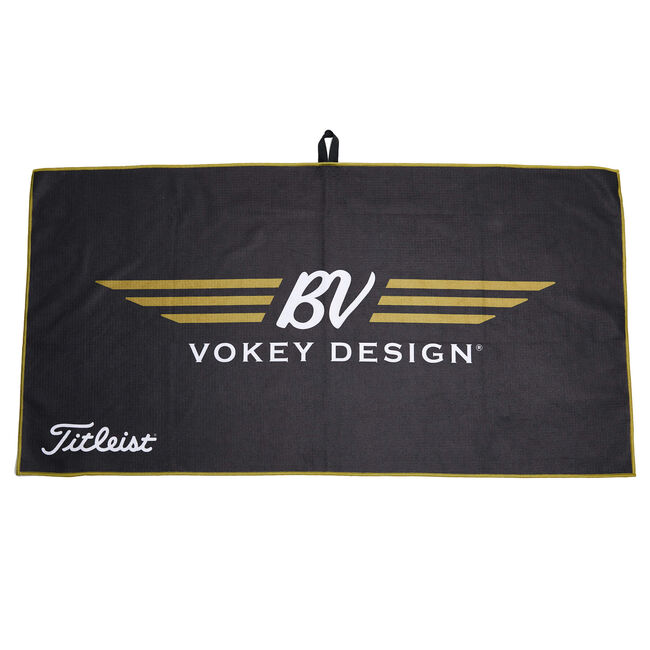 BV Wings Aqua-Lock Caddy Towel - Black/Gold