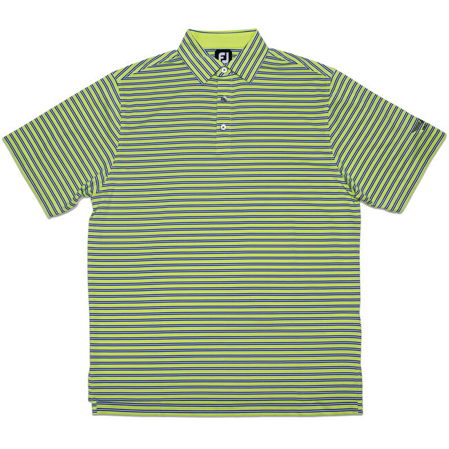 FJ Lisle Multi Stripe w/ Self Collar - Green Apple + Midnight Blue/White