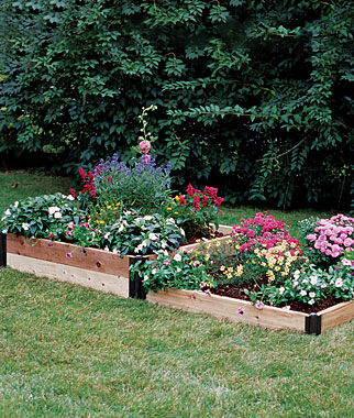 Two Stepper Complete Cedar Raised Bed Garden Home