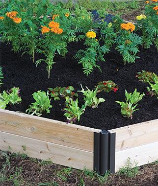 Double Level Complete Cedar Raised Bed Garden Home