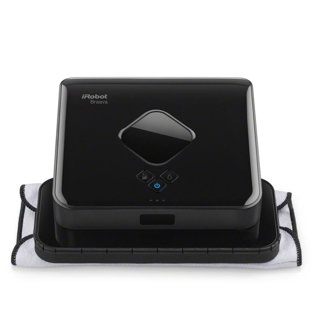 Braava 380t with dry cloth