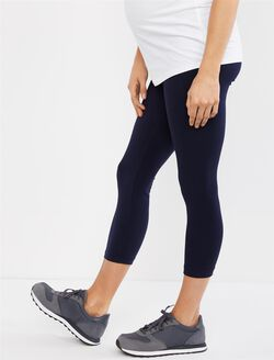 Secret Fit Belly Maternity Crop Leggings, Navy