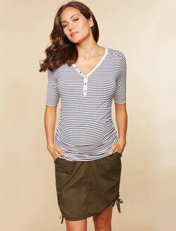 Secret Fit Belly Drawstring Maternity Skirt, OLIVE